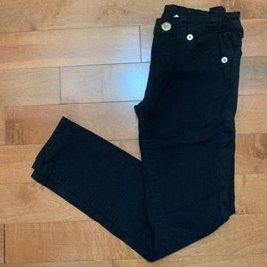 True religion black jeans pants